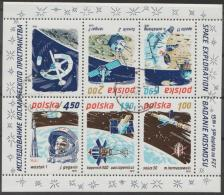 *~* MAKE AN OFFER *~* - POLAND - 1975 Space Souvenir Sheet. Scott 2107a. Used - Blocks & Sheetlets & Panes