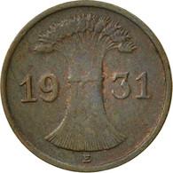 Allemagne, République De Weimar, Reichspfennig, 1931, Muldenhütten, TB+ - [ 3] 1918-1933 : Weimar Republic
