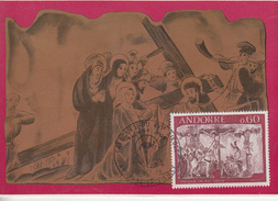 Carte  Maximum  1er  Jour  ANDORRE   Fresque  Du  XVIéme  Siécle   1968 - Maximumkarten (MC)
