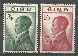 Irlande 1953 120-21 * Patriote Robert Emmet - Nuevos