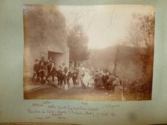 ASSAT EXCURSION DE PIETAT CHAPELLE SAINT AMBROISE 1888 CHUTE RANDONNEUR PHOTO LÉGENDÉE 16.5 X 12 - Fotos