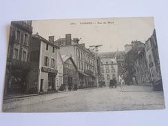 VANNES RUE DE  MENE CPA 1904 COMMERCES PHOTOGRAPHE - Vannes