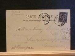 72/720   CP DE NANCY    OBL. AMB.  POUR ALLEMAGNE - Postmark Collection (Covers)