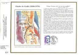 DOCUMENT SOIE 1990 CHARLES DE GAULLE - De Gaulle (General)