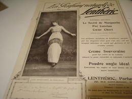 ANCIENNE PUBLICITE PARFUM NATUREL LENTHERIC  JANE RENOUARDT 1914 - Advertising