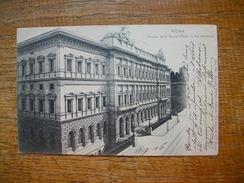 """Italie , Roma , Palazzo Della Banca D'italia In Via Nazionale """" Beau Petit Timbre Avec Voisin à Gauche Décalage """" - Roma (Rome)"""