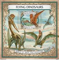 MALDIVES 2017 - Flying Dinosaurs S/S Official Issue - Prehistorics