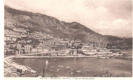 POSTAL  -MONACO  EL PUERTO -VISTA SOBRE  MONTE-CARLO  ( LE PORT. VUE SUR MONTE-CARLO ) - Puerto