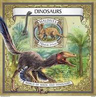 MALDIVES 2017 - Dinosaurs S/S Official Issue - Prehistorics