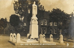 Bedford - Embankment Gardens, War Memorial - 1914-1919 In Memory Of Bedfordians - Bedford