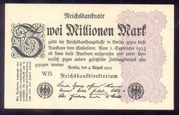 GERMANY 2 Millionen Mark 1923 P104c Weimar Republic UNC - [ 3] 1918-1933 : Weimar Republic
