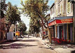 - Bouches Du Rhone -gd Format-ref-V260- La Fare Les Oliviers -cours Charles Gaillaud - Cafe - Cafes - Guerite Journaux - - Frankrijk