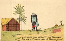 A 7697 - Afrique     Dessin D'une Africaine Et Son Enfant - Afrique Du Sud