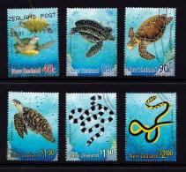 New Zealand 2001 Marine Reptiles Set Of 6 Used - - - New Zealand