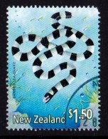 New Zealand 2001 Marine Reptiles $1.50 Banded Sea-snake CTO - Corner - New Zealand