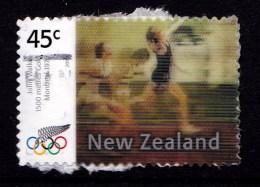 New Zealand 2004 Olympics Athens Gold Lenticular 45c Used  - - New Zealand