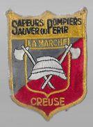 23 - CREUSE - SAPEURS POMPIERS -  ECUSSON TISSU   - - Patches