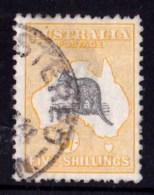 Australia 1918 Kangaroo 5/- Grey & Yellow 3rd Watermark Used - Listed Variety - 1913-48 Kangaroos