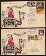 India   1973   QATAR   Bombay - Doha & Doha - Bombay  2  First Flight Covers   #  90557  Inde Indien - Qatar