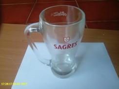 Tasse De Verre De Bière Sagres - Portugal - Cups