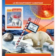 TOGO 2017 - Global Warming S/S. Official Issue. - Fauna ártica