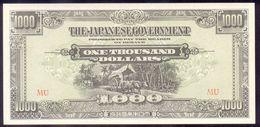 MALAYA JAPANESE OCCUPATION WW II 1000 Dollars (1945) PM10b UNC - Malaysia