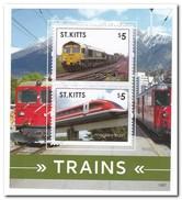 St. Kitts 2015, Postfris MNH, Trains - St.Kitts En Nevis ( 1983-...)