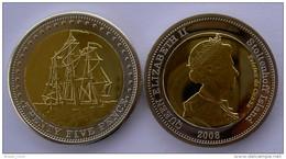 STOLTENHOFF ISLAND 2008 25 PENCE BIMETALLICA NAVE SCHIFF FDC UNC - Coins
