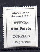 Viñeta  Nº 10  Montcada I Reixac. - Verschlussmarken Bürgerkrieg