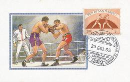 D30541 CARTE MAXIMUM CARD 1955 SAN MARINO - BOXING CP ORIGINAL - Boxing