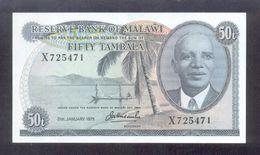 Malawi 50 Tambala 1975 P9c UNC - Malawi
