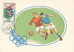 D30542 CARTE MAXIMUM CARD 1964 CZECHOSLOVAKIA - SOCCER OLYMPICS TOKIO CP ORIGINAL - Soccer