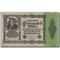 Allemagne, 50,000 Mark, 1922, KM:79, 1922-11-19, TB - [ 3] 1918-1933 : Weimar Republic