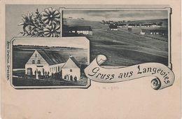 Litho AK Dlouha Louka Langewies Langewiese Gasthof A Ossegg Osek Teplitz Teplice Neustadt Nove Mesto Moldau Fleyh Brüx - Sudeten