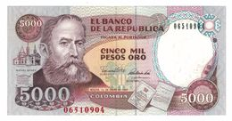 Colombia 5000 Pesos 1990, P-436. UNC. - Colombia