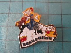 Pin411g Pin's Pins / VILLES : BEAUCHENE PERE NOEL TRAINEAU EGLISE   Belle Qualité !!! - Städte