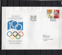 Norwegen, 1996, 100 Jahre Olymp. Spiele, Michel 1206/07 FDC - FDC