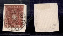 1860 - 40 Cent Carminio (21) Su Piccolo Frammento Isola Del Giglio (P.ti R1) Corto A Destra (5.750) - Stamps