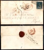 6 Crazie Azzurro (15) Stretto In Alto - Lettera Da Lucca A Napoli Del 9.9.59 (3.500) - Stamps