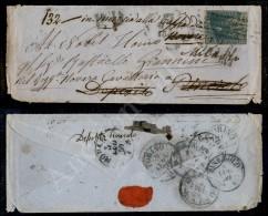 Firenze 24.5.59 - 6 Crazie Azzurro (15) Corto A Destra - Su Bustina Per Militare Del Reggimento Novara Cavalleria -... - Stamps