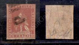 1858 - PD - 1 Crazia Carminio (12) Preciso A Destra Con Parte Di Vicino A Sinistra - Bello (1.250) - Stamps