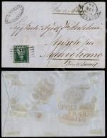4 Crazie Verde (6) Su Lettera Da Livorno A Marigliano Del 24.3.55 - Tassata (1.100) - Stamps