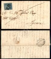 2 Crazie Azzurro Chiaro Su Grigio (5) Appena Corto In Angolo Destro In Basso - Lettera Da Montecatini (PD Unico... - Stamps