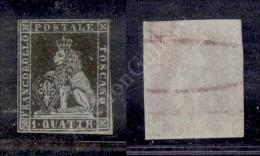 1851 - 1 Quattrino Nero (1) Nuovo Con Gomma - Tre Ottimi Margini - Linea A Destra Di Riquadro Appena Intaccata In... - Stamps