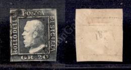 1859 - 20 Grana Grigio (13) - Preciso In Angolo A Destra In Basso (1.500) - Stamps
