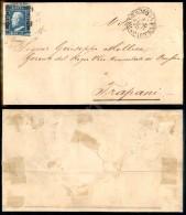 2 Grana Azzurro (8d - Tav. III Pos. 69) Su Lettera Da Palermo A Trapani Del 25.10.59 - Diena (875) - Stamps