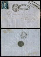 2 Grana Cobalto Scuro (17c Su Lettera Da Catania A Termini Del 16.3.59 - G. Bolaffi + ED (3.500) - Stamps