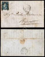 2 Grana Cobalto (7b - Oleoso - Tav. II Pos. 11) Su Lettera Da Palermo A Riposto Del 7.5.59 - Diena (1.800) - Stamps