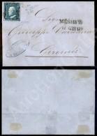 2 Grana Azzurro (6a - Tav. I Pos. 85) Su Lettera Da Messina A Girgenti Del 6.6.59 - Oliva + Raybaudi (875+) - Stamps