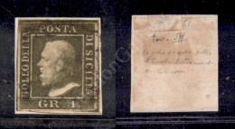 1859 - 1 Grano Verde Oliva (5a) Con Ottimi Margini Su Frammento (725) - Stamps